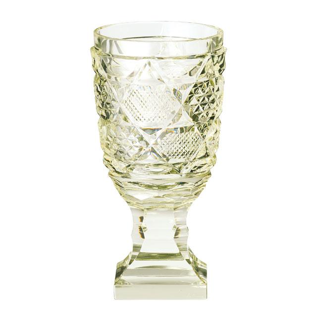 薩摩切子 脚付杯(中) 古式 母の日 父の日 ギフト 薩摩切子 グラス 薩摩切子グラス 古式 脚付杯 還暦祝 結婚祝 退職祝 記念品※北海道・東北地区は、別途送料1000円が発生します。※代引不可商品