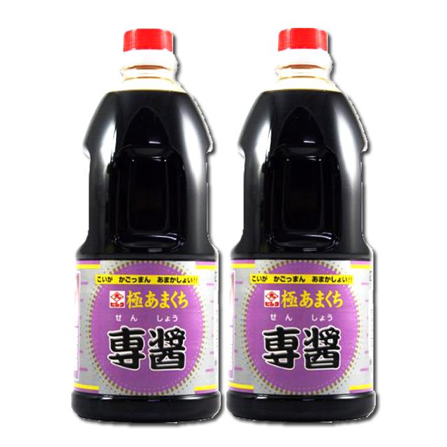 とっても甘い 好みで甘さを自由に調節できる濃口醤油です ヒシク 極甘口 数量限定 専醤 濃口醤油 鹿児島 限定特価 1L×2本 藤安醸造