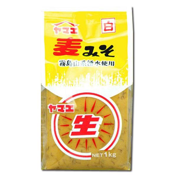 麹のまろやかさと大豆の旨み、麦の風味豊かな昔ながらの麦みそ ヤマエ 白生麦みそ 750g