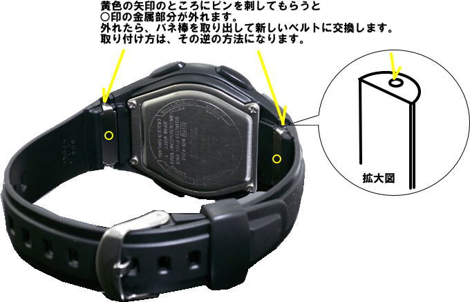 Casio ウェブセプター WVQ-400 J, WVA-J 430 for band (belt)