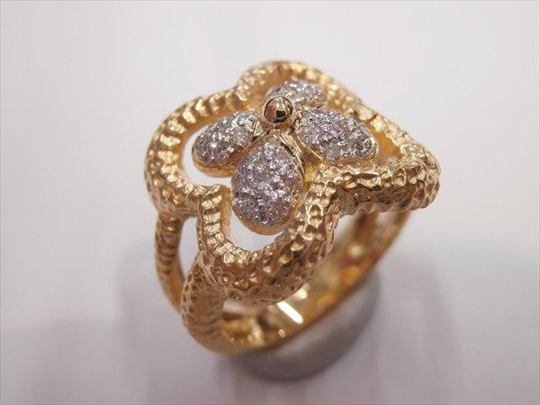 K18ダイヤモンド:0.26ct9.0g 11号指輪