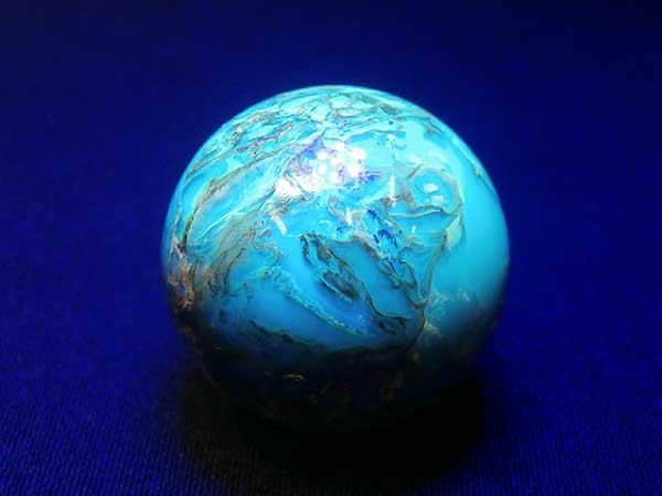 ドミニカ産 ブルーアンバー(琥珀)ブラウン 丸玉 22.9mm 6.6g