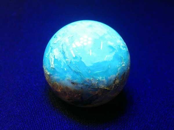 ドミニカ産 ブルーアンバー(琥珀)ブラウン 丸玉 21.4mm 5.4g