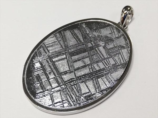 ギベオン(天然隕石) メテオライト SV925ペンダントトップ 約26×36mm