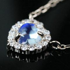 【ダイヤモンド ブルームーンストーンネックレス・ディルーサ】 華奢 シンプル ジュエリー ブランド 宝石