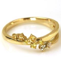 【イエローサファイア ゴールド リング 指輪・イェリッタ】心を癒す、清らかなイエローグラデーション…! 華奢 シンプル 可愛い ゆびわ ジュエリー ブランド 宝石 おしゃれ