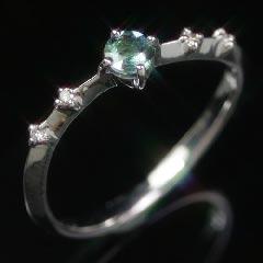 18K アレキサンドライトエメラルドマイン社ブラジル産 ダイヤモンド リング レディース 指輪・ショッパリーゼ K18 18金 稀少石 レアストーン カラーチェンジカラー 華奢 シンプル ファッションリング 可愛い ゆびわ ジュエリー ブランド 宝石 おしゃれ