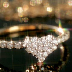 0.18ctダイヤモンド 10K ゴールドリング 指輪 レディース・エリティナ ハートパヴェリング エタニティリング ダイアモンド ピンキーリングからレギュラーサイズまで 誕生日プレゼント 女性 ファッションリング 可愛い K10 10金 ピンクゴールド ブランド 宝石 おしゃれ
