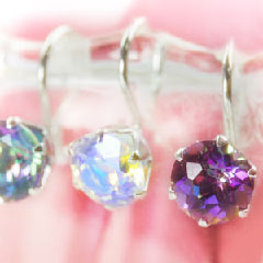 【カラートパーズ ホワイトゴールドイヤリング・ミスティル】 華奢 シンプル 小粒 ジュエリー ブランド 宝石
