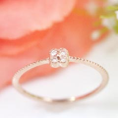 【ダイヤモンド ゴールド リング 指輪・アミュラス】指輪 レディース 華奢 シンプル 可愛い ゆびわ ジュエ ブランド 宝石 おしゃれ