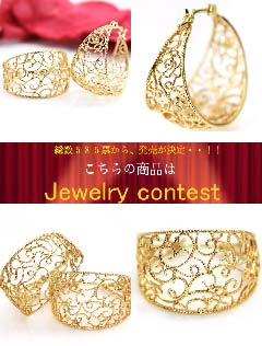 耳环K10螺丝式rumandeyurafupuiyaringu粉红黄金白色合金黄色黄金·婚礼不痛的无环耳环想看的成熟又可爱的古董风格豪华的生日礼物女性珠宝