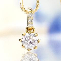 【0.2ctダイヤモンド K18カラーゴールドネックレス・ジュリアンナ】シンプルな一粒ダイヤが人気【一粒ダイヤ ネックレス】【スライド式アジャスター付】 誕生日プレゼント 華奢 シンプル ジュエリー ブランド 宝石