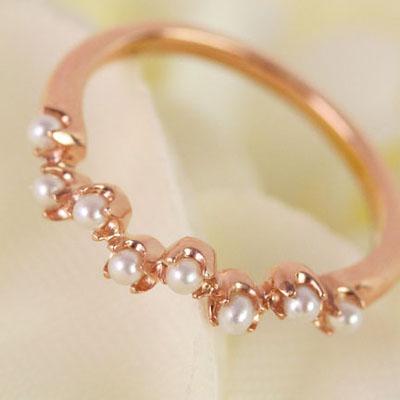 シードパールの指輪