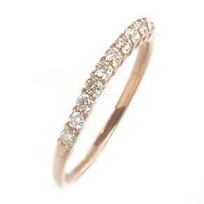 ダイヤモンド K10 ピンクゴールド イエローゴールド ホワイトゴールド エタニティリング レディース 指輪・ジュリー 重ねづけ サイズ1号から 10K 10金 誕生日プレゼント 女性 華奢 シンプル ファッションリング 可愛 ブランド 宝石 おしゃれ