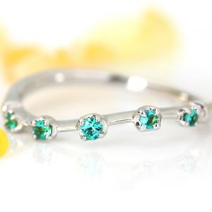 リング 指輪 18K ブラジル産パライバトルマリン イエローゴールド ピンクゴールド ホワイトゴールド・メテオール 18K 18金 10月誕生石リング 華奢 シンプル デザイン 女性 レディース K18 18金 ファッションリング ブランド BIZOUX ビズー  宝石 おしゃれ