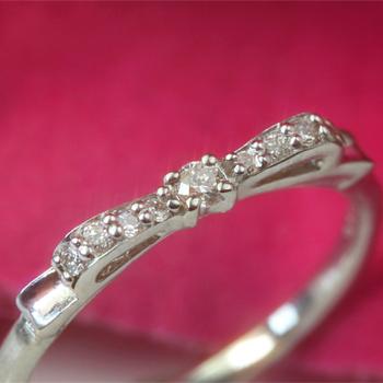 ダイヤモンド K18 ピンクゴールド イエローゴールド ホワイトゴールドリング レディース 指輪・メルディア リボン りぼんモチーフ 18K 18金 誕生日プレゼント 女性 ギフト 人気 華奢 シンプル ファッションリング 可愛い ゆびわ おしゃれ ピン ブランド 宝石