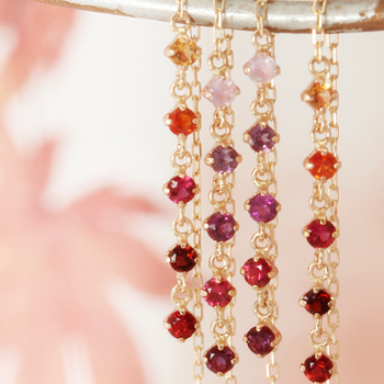 1333b2b2c 5 color Joel x carat gold earrings, autumn Pyrope, rubellite, 361,  regdishsafaia, fire opal,-(American earrings) * this will deliver up to  about 3 months ...