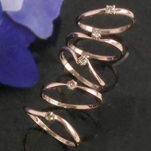 ブラウンダイヤモンド K10 ピンクゴールドリング レディース 指輪・ブラウンクインテッド 10K 10金 一粒ダイヤ デザインリング 人気 定番 おしゃれ【レビュー好評】 誕生日プレゼント 女性 華奢 シンプル ファッションリング デザイン ブランド 宝石