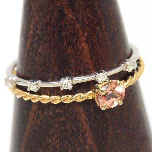 ダイヤモンド 10K ホワイトゴールド ピンクゴールド リング レディース 指輪・エメレンツ 重ねづけ 重ね付けにぴったりな華奢リング 極細リング 重ね着けリング おしゃれ 10金 誕生日プレゼント 指輪 リング レディース ブランド 宝石