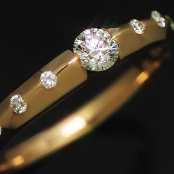 0.2ctダイヤモンド ゴールド リング レディース 指輪・ミロンド 誕生日プレゼント 華奢 シンプル ファッションリング 可愛い ゆびわ ジュエリー ブランド 宝石 おしゃれ