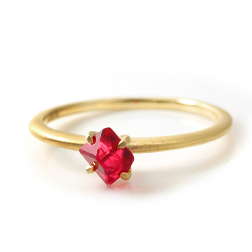 18 K Gold spinner women's Bizoux buzz, Myanmar produced 361 gemstone 18kt yellow gold 18kt pink gold white gold ring