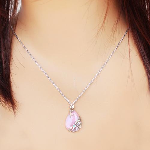 碌山珠宝粉红蛋白石×蛋白石吊坠最高层·水芹安ROKUZAN