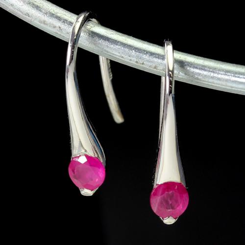 ルビー 7月誕生石 K14 ホワイトゴールド ピアス レディース・ジュエミラ フックピアス プレゼント ギフト シンプル 華奢 シンプル 小粒 可愛いピアス ジュエリー ブランド 宝石