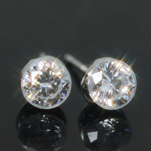 キュービックジルコニア カラーゴールドピアス レディース・キュリーノ華奢 シンプル 小粒 可愛いピアス ジュエリー ブランド 宝石
