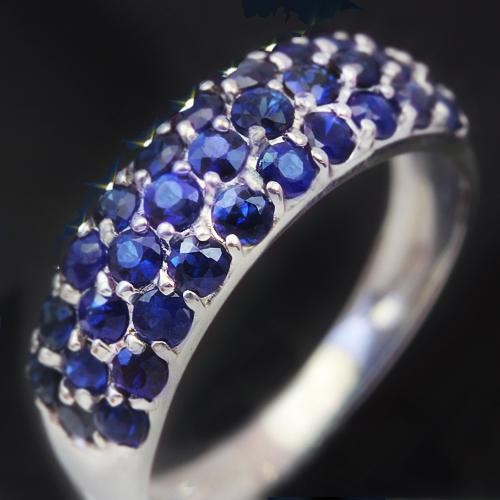 1.0ctブルーサファイア K10ゴールド リング レディース 指輪・サファルベ 華やかなパヴェが大人気!(9月の誕生石リング) 誕生日プレゼント ファッションリング 可愛い ゆびわ ジュエリー ブランド 宝石 おしゃれ