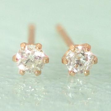 ダイヤモンドの一粒ピアス