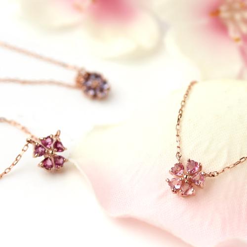 桜モチーフのネックレス画像