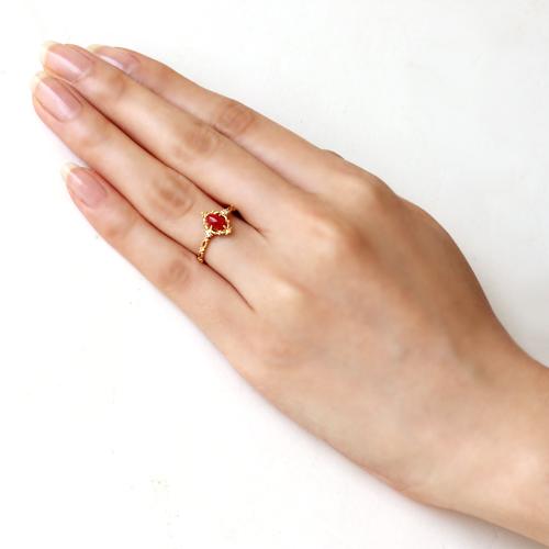 kinmokusei Rakuten Global Market Blood red coral diamond 18 K