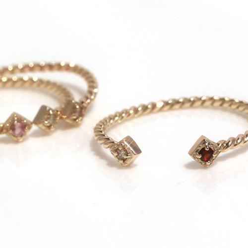 フォークリング レディース 指輪 ダイヤモンド 誕生石リング・ミスティメル 10K K10 10金 バースストーン 華奢リング シンプル ファランジリング ピンキーリング ピンクゴールド ホワイトゴールド 流行 おしゃれ 人気 かわ ブランド 宝石
