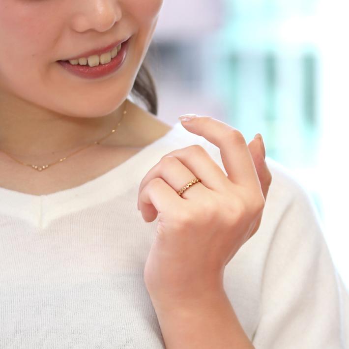 18K ローズカットダイヤモンド リング 指輪・ポルカ VS-SIクラスダイヤモンド イエローゴールド ピンクゴールド ホワイトゴールド 誕生日プレゼント 女性 レディース K18 18金 ファッションリング ブランド BIZOUX ビズー  宝石