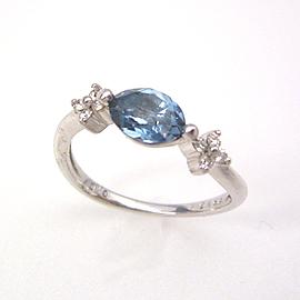 K18 ホワイトゴールド ロンドンブルートパーズ ダイヤモンド リング レディース 指輪・ファーディナント 18K 18金 誕生日プレゼント 華奢 シンプル ファッションリング 可愛い ゆびわ ジュエリー ブランド 宝石 おしゃれ