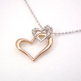 ダイヤモンド カラーゴールドネックレス レディース ペンダント・アンレーヴ 華奢 シンプル ジュエリー ブランド 宝石