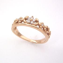 ダイヤモンド ピンクゴールド リング レディース 指輪・ルフィオーリ 華奢 シンプル ファッションリング 可愛い ゆびわ ジュエリー ブランド 宝石 おしゃれ