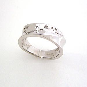 ダイヤモンド ホワイトゴールド リング レディース 指輪・アントルシャ ピンキーリング対応 ファランジリング ミディリング 関節リング 華奢 シンプル ファッションリング 可愛い ゆびわ ジュエリー ブランド 宝石 おしゃれ