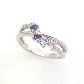 ブルーグラデーション ダイヤモンドリング レディース 指輪・カイナル 華奢 シンプル ファッションリング 可愛い ゆびわ ジュエリー ブランド 宝石 おしゃれ
