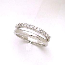 0.13ctダイヤモンド K18 ホワイトゴールド リング レディース 指輪 ペルペテュア エタニティリング レディース 18K 18金 ピンキーリング対応 サイズ1号から 重ねづけ シンプル ファランジリング ミディリング ブランド 宝石 おしゃれ