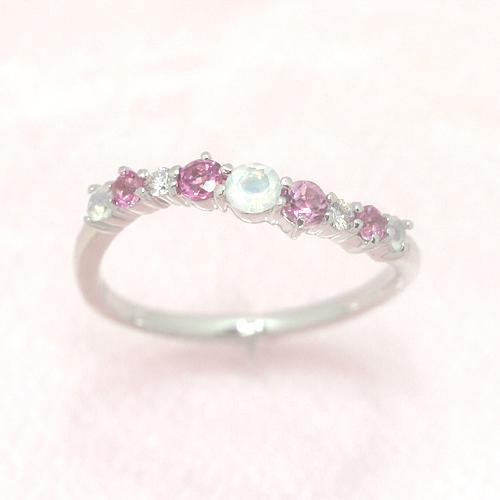 ピンクグラデーション ダイヤモンドリング レディース 指輪・キュリオーサ 誕生日プレゼント 華奢 シンプル ファッションリング 可愛い ゆびわ ジュエリー ブランド 宝石 おしゃれ