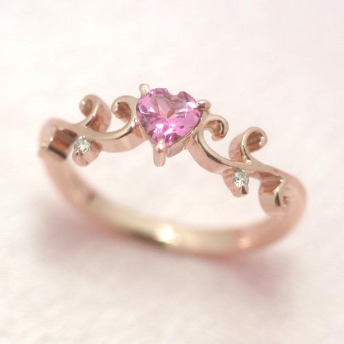 【10%OFFクーポン対象】ピンクトルマリン ダイヤモンドリング レディース 指輪・アナデム 誕生日プレゼント 華奢 シンプル ファッションリング 可愛い ゆびわ ジュエリー ブランド 宝石 おしゃれ