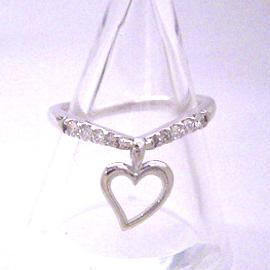 0.18ctダイヤモンド K18 ホワイトゴールド リング レディース 指輪・クリンペライ 18K 18金 誕生日プレゼント 華奢 シンプル ファッションリング 可愛い ゆびわ ジュエリー ブランド 宝石 おしゃれ