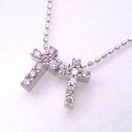 ピンクダイヤモンド ダイヤモンドネックレス レディース ペンダント・ドルチェヴィータ 華奢 シンプル ジュエリー ブランド 宝石