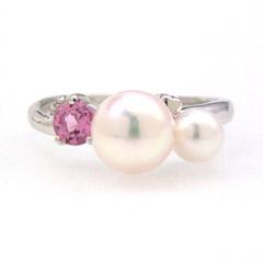 ピンクグラデーション ホワイトゴールド リング レディース 指輪・シャトレーゼ 誕生日プレゼント 華奢 シンプル ファッションリング 可愛い ゆびわ ジュエリー ブランド 宝石 おしゃれ