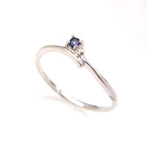 サファイア ダイヤモンド K18 ホワイトゴールドリング レディース 指輪・ベルエール【レビュー好評!】9月誕生石リング 華奢 シンプル ファッションリング 可愛い ゆびわ 極細リング 重ねづけ 重ね付け 18K K18 18金 ジ ブランド 宝石 おしゃれ