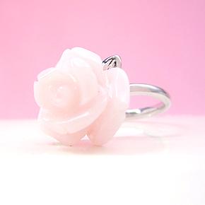 【スーパーセール10%OFF】K18 ホワイトゴールド ピンクオパール リング レディース 指輪・アルランシェ バラ カラーストーン モチーフ 18K 18金 誕生日プレゼント 華奢 シンプル ファッションリング 可愛い ゆびわ ジュエリー