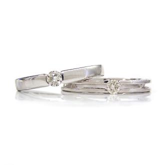 リング レディース 指輪 10K ダイヤモンド ホワイトゴールド・マレーナ&ブルネット K10 10金 ピンキーリング対応 ファランジリング 華奢 シンプル マリッジリング 結婚指輪 エンゲージリング 婚約指輪 ブライダル ファッションリング 可愛い ゆびわ ジュエリー ブランド