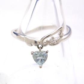 アクアマリン ダイヤモンドリング レディース 指輪・モアナラーニ 誕生日プレゼント 華奢 シンプル ファッションリング 可愛い ゆびわ ジュエリー ブランド 宝石 おしゃれ
