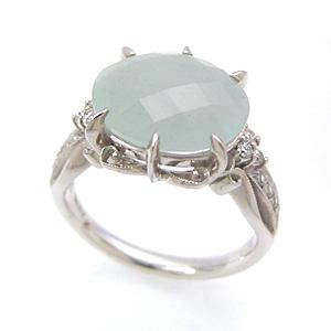 ミルキーアクアマリン ダイヤモンドリング レディース 指輪・アスルセレステ 華奢 シンプル ファッションリング 可愛い ゆびわ ジュエリー ブランド 宝石 おしゃれ